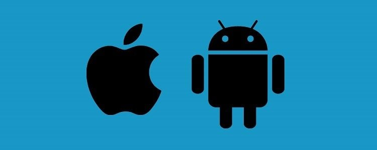 Android kontra iOS Slide