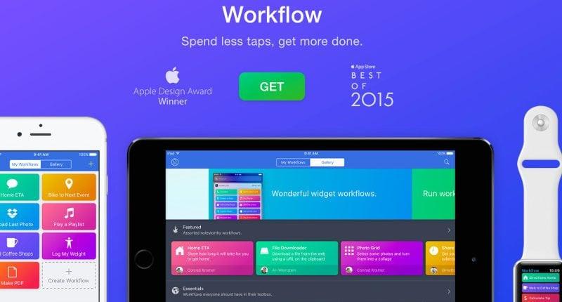 Apple kupiło Workflow