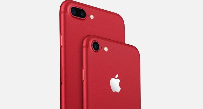 Czerwone iPhone'y