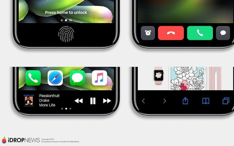 Bezramkowy iPhone 8