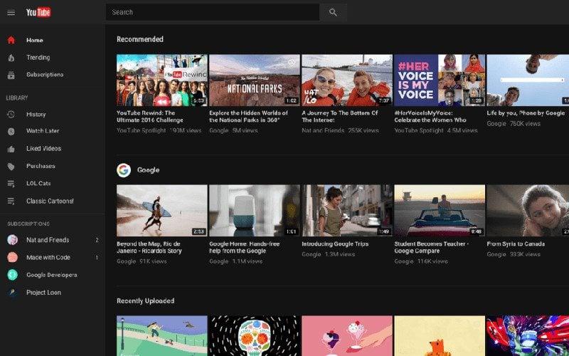 Czarny YouTube