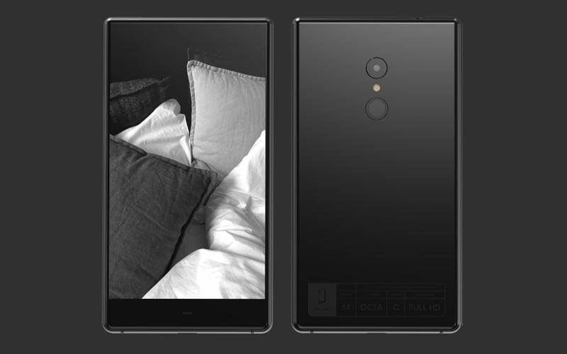 Monochromatyczny smartfon