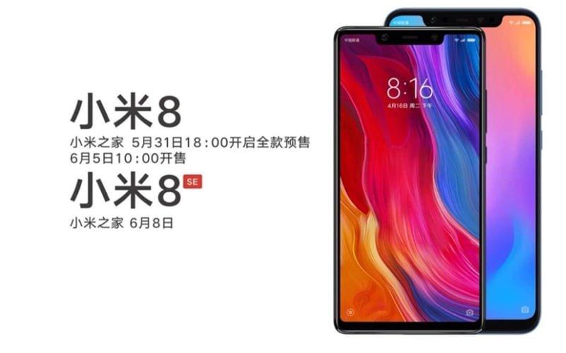 Xiaomi Mi 8 Xiaomi Mi 8 SE