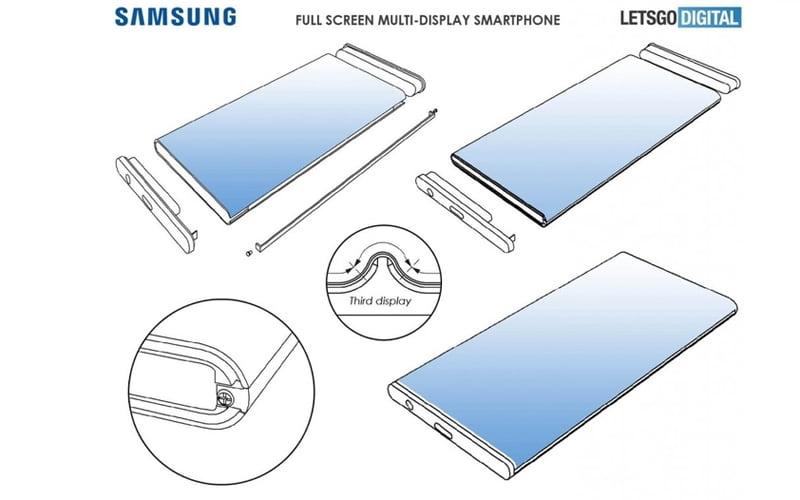 Trzy ekrany u Samsunga