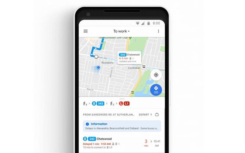 Google Maps ułatwi transport publiczny
