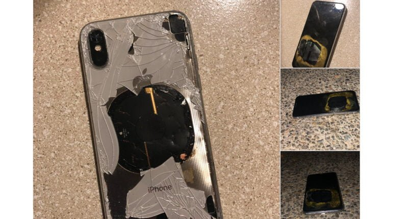 iPhone X wybuchł