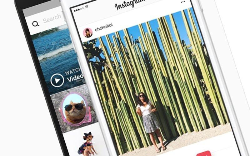 Instagram w poziomie
