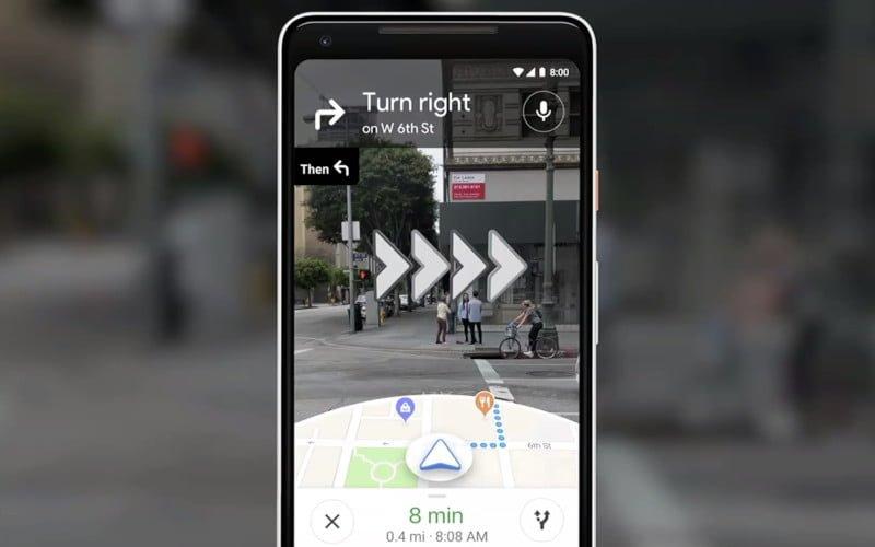 AR w Mapach Google