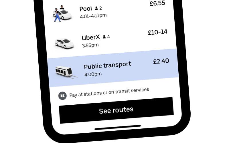 Transport publiczny w Uber