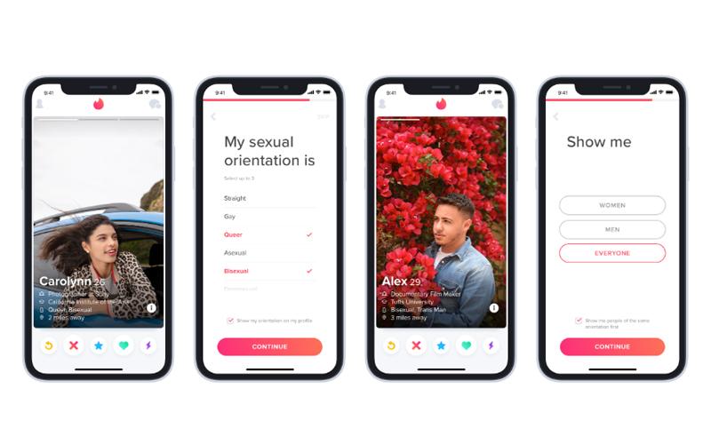 Dziewięć orientacji seksualnych Tinder