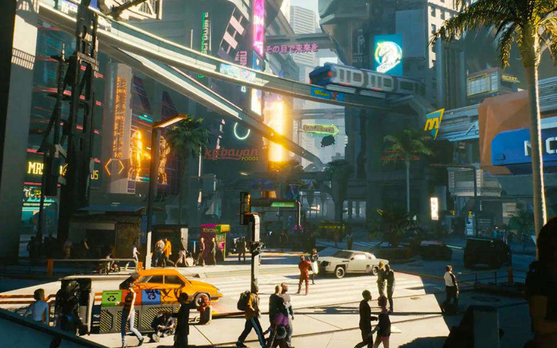 Budynki w Cyberpunk 2077