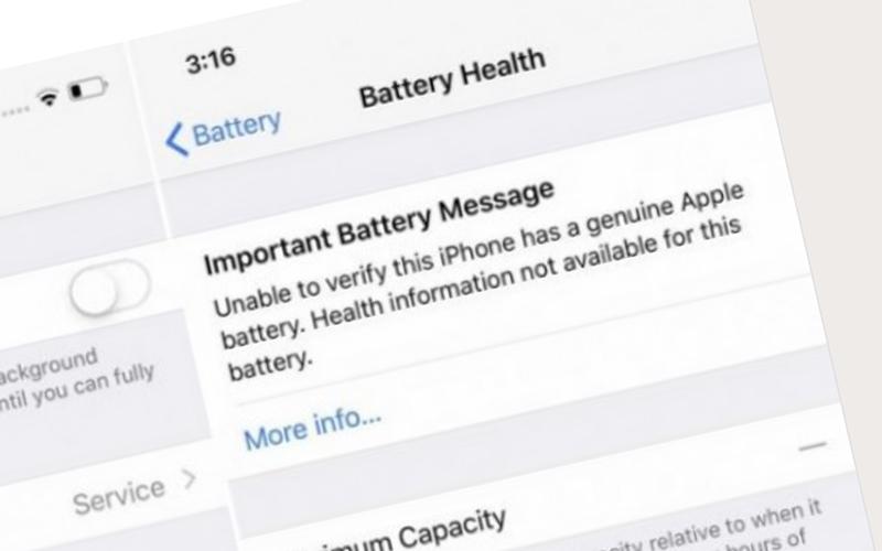 Wymiana baterii u Apple