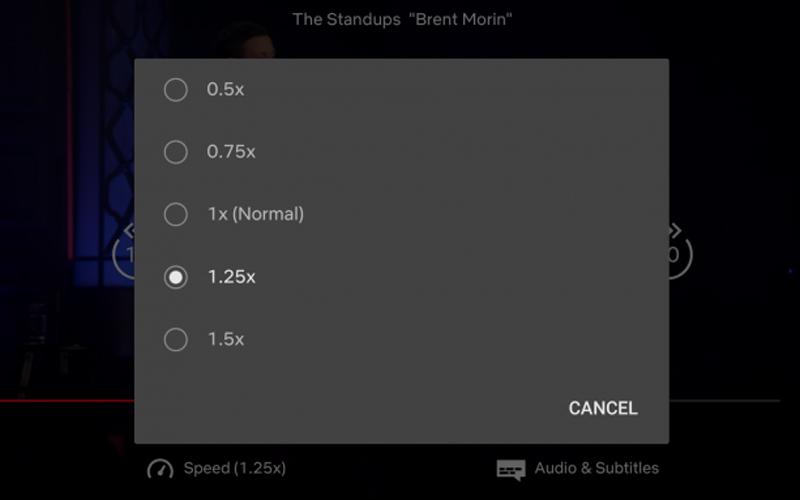 Prędkość odtwarzania na Netflix