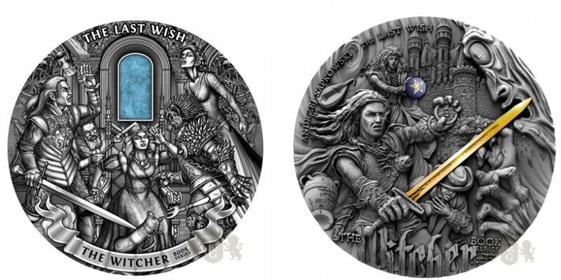 Monety z Wiedźminem