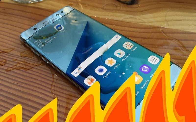 Wybuchowy Galaxy Note7